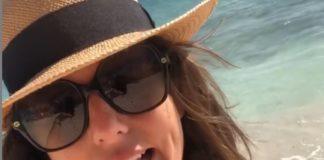 Faustine Bollaert, vacances au soleil