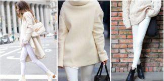 Comment porter le pantalon blanc en hiver?