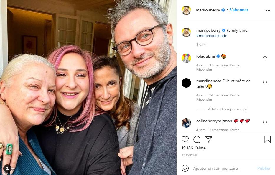 Marilou a publié une photo sur Instagram avec sa mère Josiane Balasko et sa cousine Coline Berry