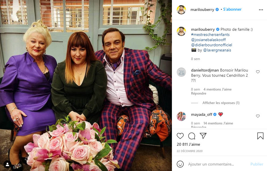 Marilou a publié une photo sur Instagram avec sa mère Josiane Balasko