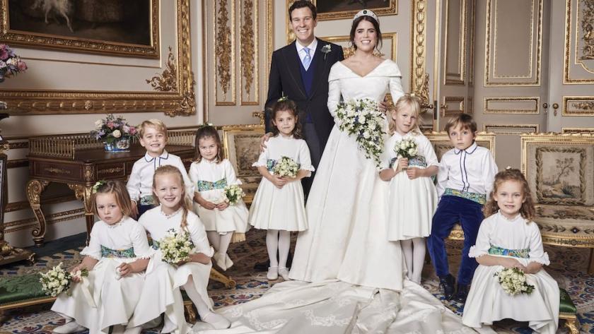 La princesse Eugénie lors de son mariage