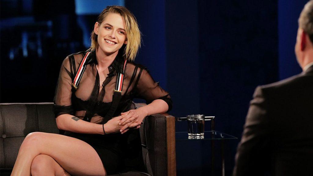 Kristen Stewart sur le tournage de l'émission de Jimmy Kimmel