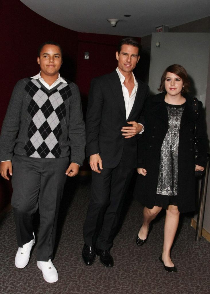 Bella Kidman Cruise avec Tom Cruise et son frère Connor Cruise