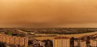 Ciel jaune aperçu dans plusieurs villes.