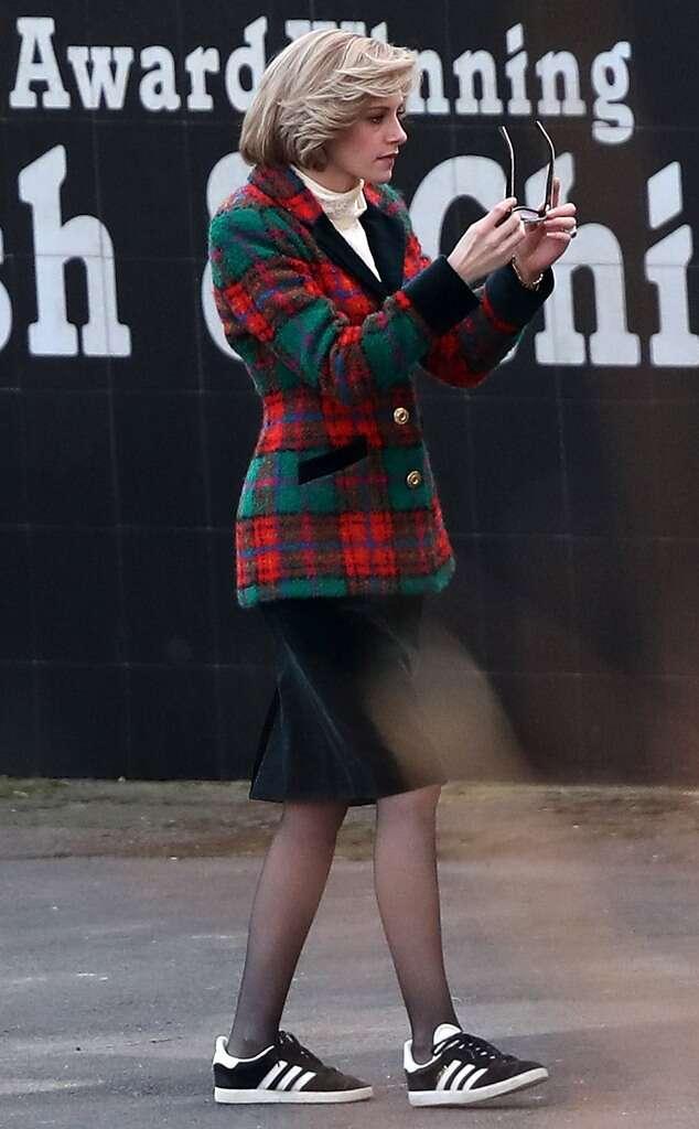 Kristen Stewart sur le tournage du film Spencer