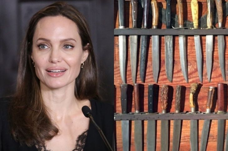 Collections : Angélina Jolie et les couteaux